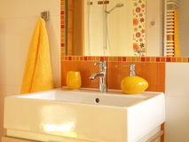 White square sink Royalty Free Stock Photos