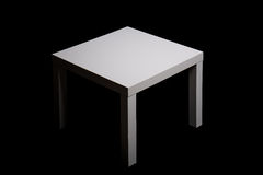 White the square table Stock Photography