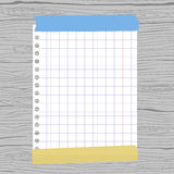 White Squared Notebook Paper Sheet Royalty Free Stock Image