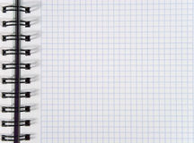 White squared notebook sheet. (as a background Stock Photography