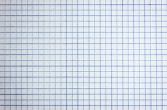 White squared paper sheet background Royalty Free Stock Images