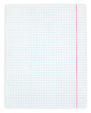 White squared paper sheet. Isolated on white with clipping path Stock Image