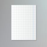 White squared paper sheet Stock Photography