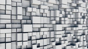 White squares abstract background. Realistic wall of cubes Royalty Free Stock Photos