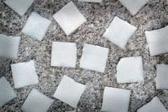 White squares in the concrete wall Stock Image