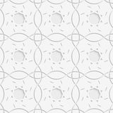 White squares and geometric flowers seamless Royalty Free Stock Photography
