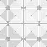 White squares with gray layering tile ornament Stock Photography