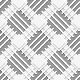 White squares and lines layered on gray Royalty Free Stock Photography
