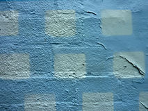 White squares and peeling paint background Stock Photo