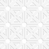 White squares and triangles tile ornament Royalty Free Stock Photography