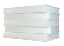 White stack of books isolated on white background. 3d rendering Royalty Free Stock Photography