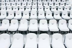 White stadium chairs Royalty Free Stock Image