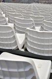 White stadium seats Royalty Free Stock Images