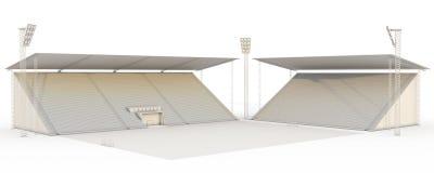White stadium under construction Stock Photo