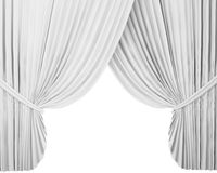 White stage curtain, background Stock Images
