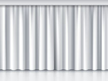White stage curtain Royalty Free Stock Photography