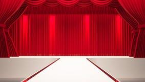 White stage Stock Photos