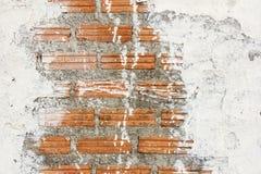 White stain brick wall background texture Royalty Free Stock Photos