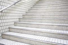 White stair concrete Royalty Free Stock Image