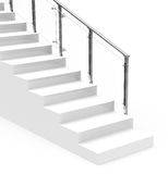 The white stair Royalty Free Stock Photography