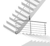 The white stair Stock Photography