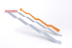 White stair go to success. White stair with concept go to success Royalty Free Stock Images