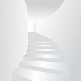 White stair up to open the door Royalty Free Stock Photography