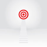 White stair up to target success. Teamwork Stock Image