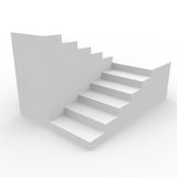 White staircase. Royalty Free Stock Photo
