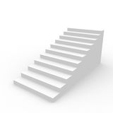White staircase. Royalty Free Stock Image