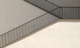 White staircase. Staircase in different nuances of white Royalty Free Stock Photos