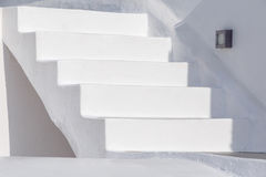 White staircase in Oia Royalty Free Stock Images