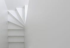 White staircase top view Royalty Free Stock Photo