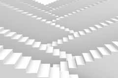 White staircases. Stock Image