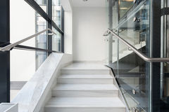 White stairs in business building Stock Photography