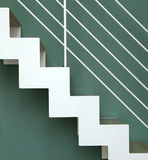 White stairs going up Royalty Free Stock Photography