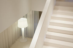 White stairs in luxury apartment Royalty Free Stock Photography