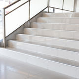 White stairs in modern office Royalty Free Stock Images