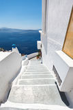 White stairs in Santorini Royalty Free Stock Image