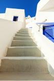 White stairs, Santorini royalty free stock image