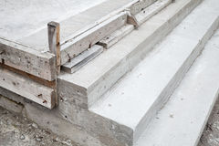 White stairs under construction, concrete steps Royalty Free Stock Images
