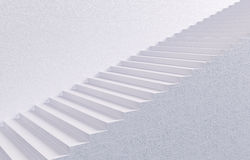 White Stairway. 3D concept image vector illustration