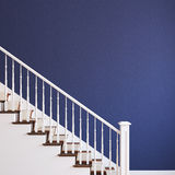 White stairway. White classic stairway. 3d render Stock Photography