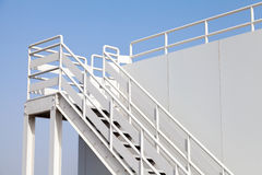 White stairway to the captain bridge Stock Images