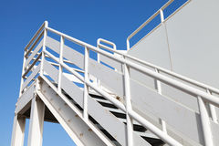 White stairway to the captain bridge Royalty Free Stock Images