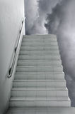 A white stairway to sky Stock Photography