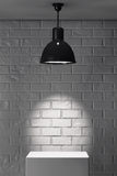 White Stand and Ceiling Lamp Royalty Free Stock Photo