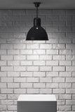 White Stand and Ceiling Lamp Stock Photography