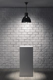 White Stand and Ceiling Lamp Stock Photos