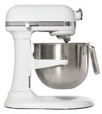 White Stand Mixer. Isolated view of a white stand mixer Stock Photo